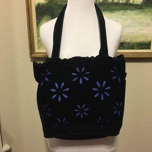 Moschino Blue Velvet Like New Flora Mini Bag